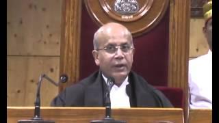 Chief Justice Navin Sinha Ovation in High Court Bilaspur Chhattisgarh