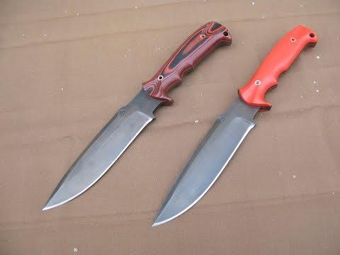 Красно-чёрные ножи от Мастерской Алексея Федотова.