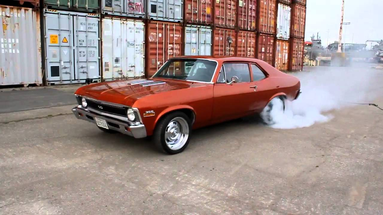 All Chevy 1971 chevrolet nova : 1971 Chevy Nova SS Burnout - YouTube