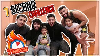 EXTREME 7 SECOND CHALLENGE WITH MY FAMILY