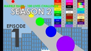 Marble Race - 100 Lives! Season 2 - Part 1