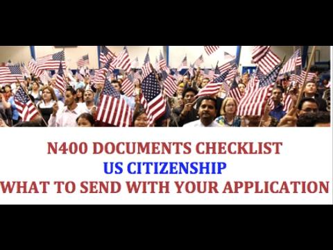 N400 Document Checklist Youtube
