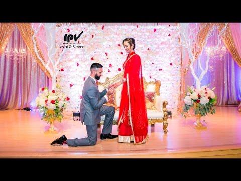 Latest Engagement 2017 Jasjot & Simren's Engagement Highlight 4K by Rama Photo Video