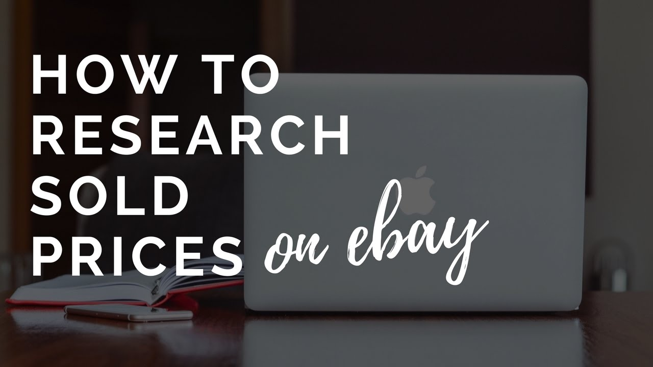 How To Find Out The Price Of An Item Using Ebay Search Sold Listings Youtube