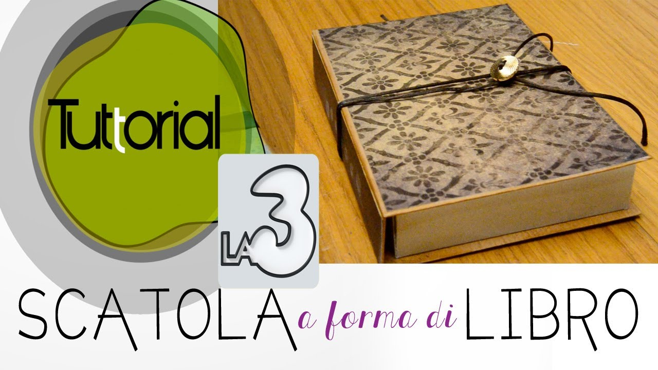 Scatola libro tuttorial 2013 la3 youtube for Come costruire i passaggi della scatola