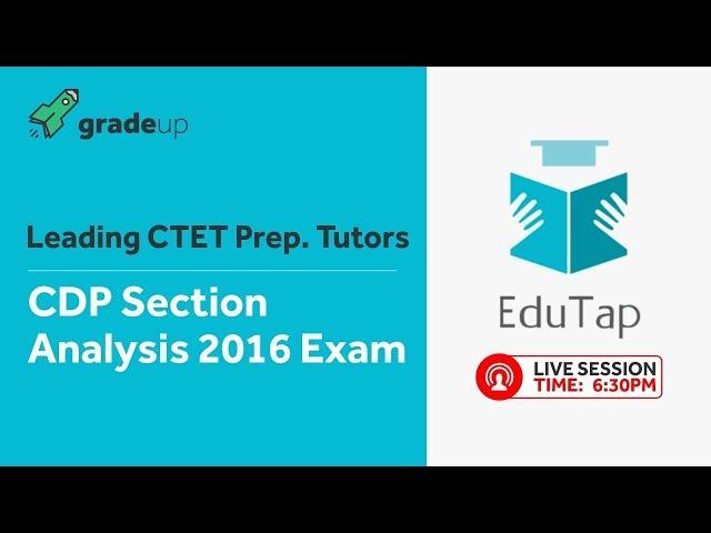CTET Child Development & Pedagogy   Previous Year Paper Analysis   EduTap Team