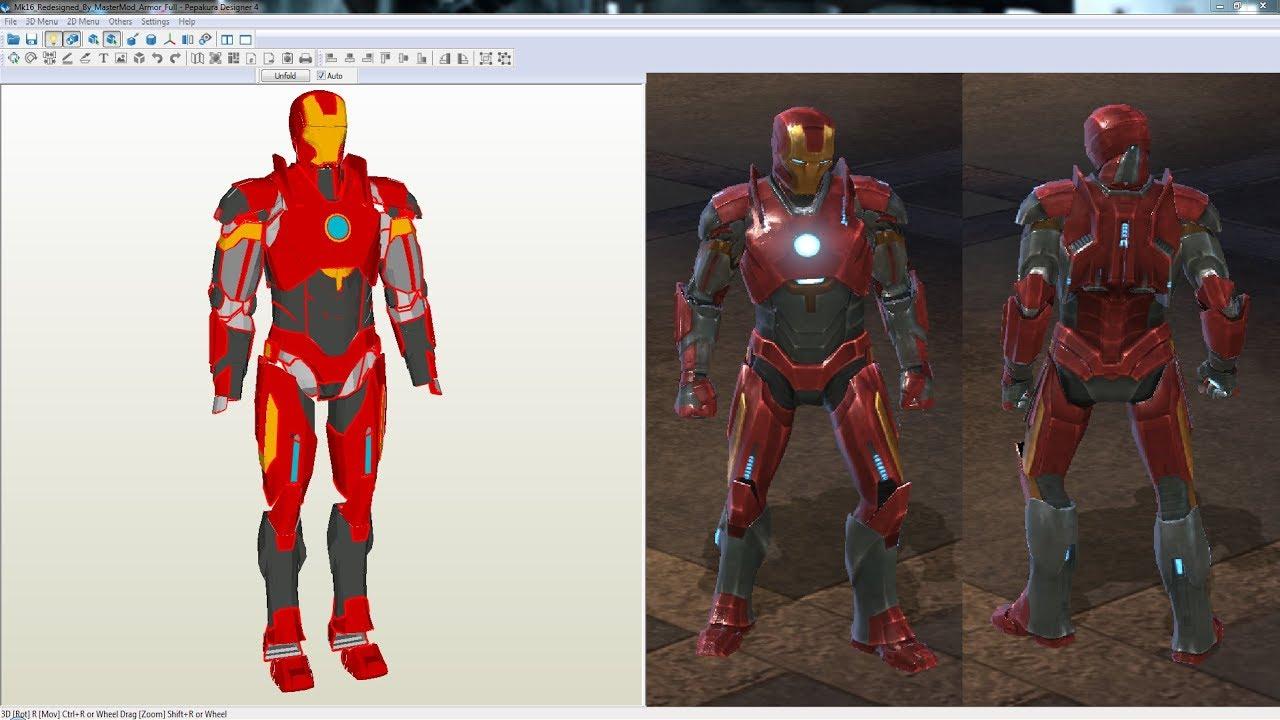 Iron Man Mark 16 Nightclub Armor - Pepakura Files