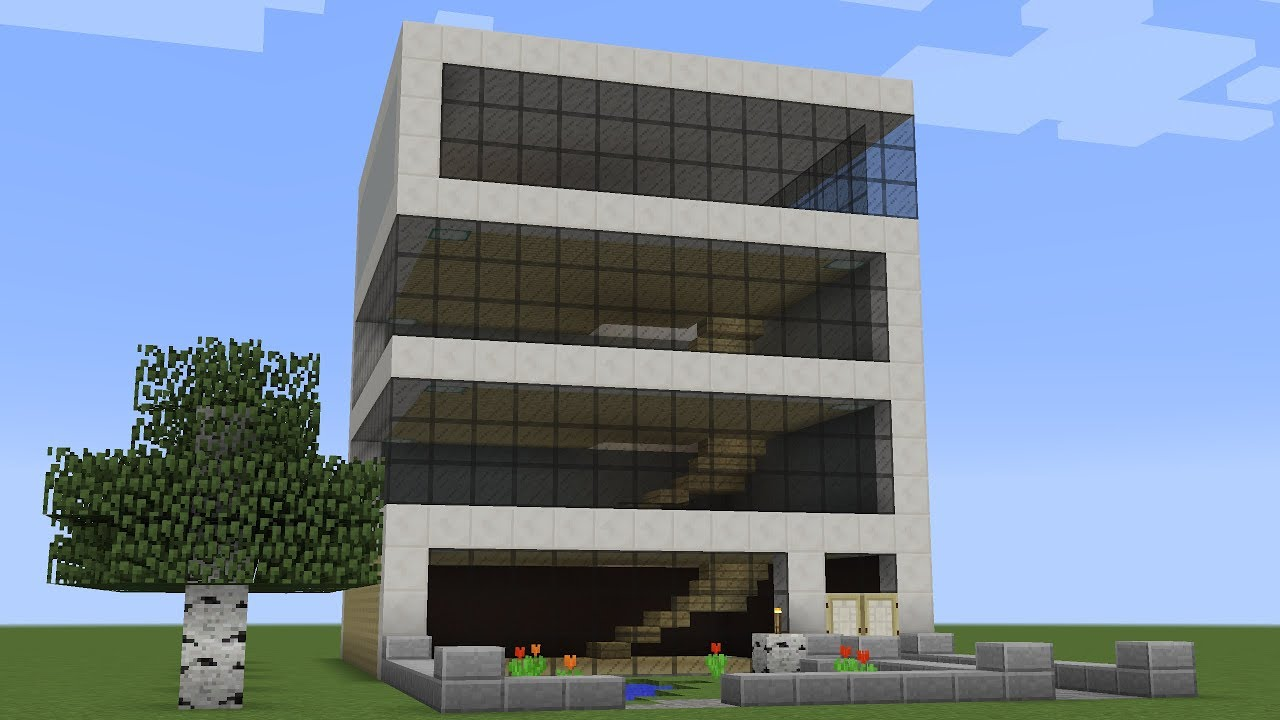 Minecraft - How to build office building - YouTube - Construction Minecraft