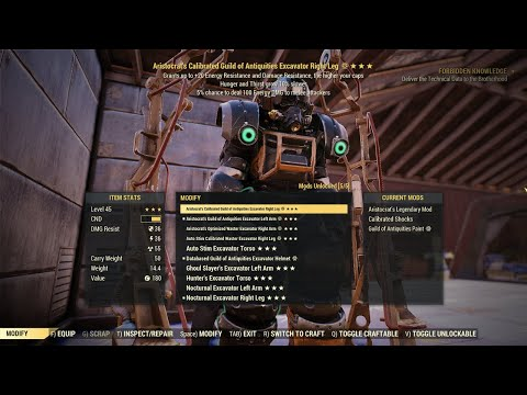 246 Legendary Cores!! Crafting & Ranting about Crafting Legendary Excavator – Fallout 76 Steel Reign