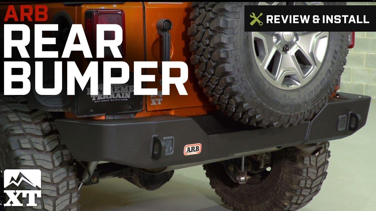 Jeep Wrangler Tj >> Jeep Wrangler ARB Rear Bumper (2007-2017 JK) Review ...