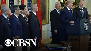 """Trump speaks before signing """"Phase One"""" of China trade deal"""