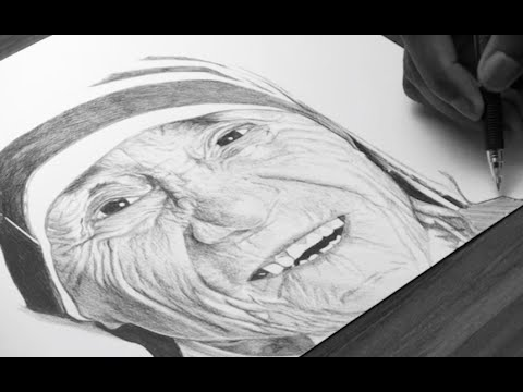 Mother teresa drawing demoose art