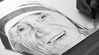 Mother Teresa Drawing - DeMoose Art
