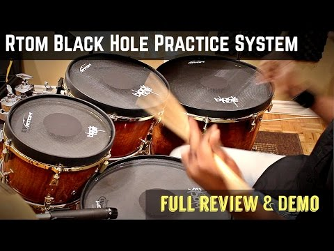 "10"" Black Hole TT Mesh Head Practice Pad - 80% Lower Volume video"