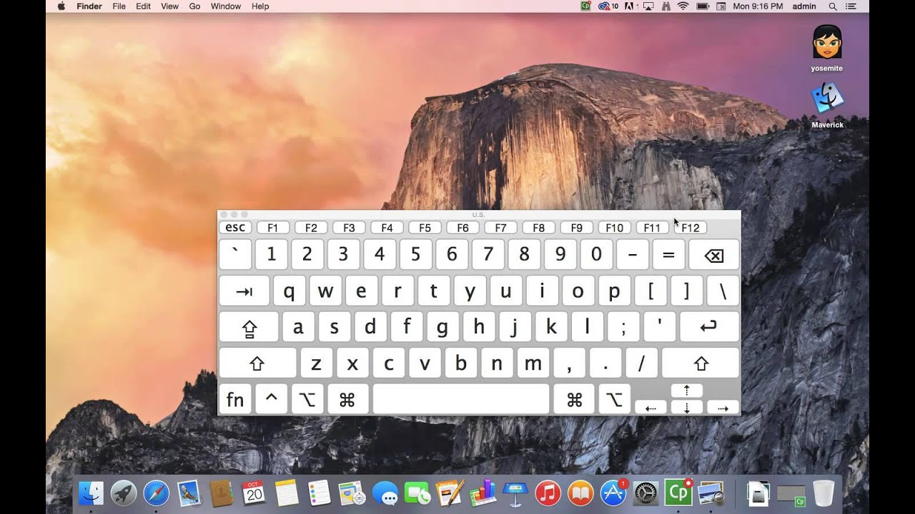 How To Activate Your Onscreen Mac Keyboard In Yosemite (virtual Keyboard)
