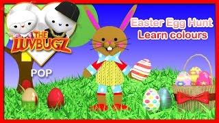 Easter Egg Hunt I Easter preschool song | Easter bunny | train cartoon for children