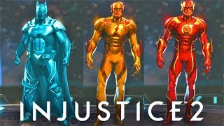 INJUSTICE 2 - ALL NEW Nth METAL SHADERS!!!!!! FLASH NEON RED/YELLOW