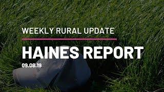 Haines Report 09.08.19 QPL Rural Property & Livestock