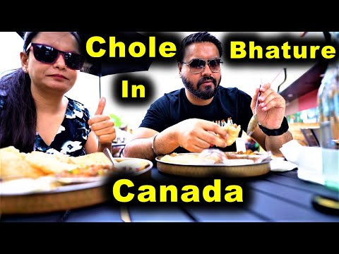 Chole Bhature In Toronto ❤   Indian Food In Canada   Canada Couple Vlogs