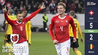 Suiza 5 – 2 Bélgica – Goles y Resumen – Liga A - Grupo 2 – UEFA Nations League