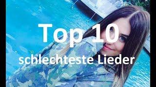 DIE 10 MEIST GEDISLIKEDEN LIEDER ► TOP 10 MOST DISLIKED SONGS [FullHD]
