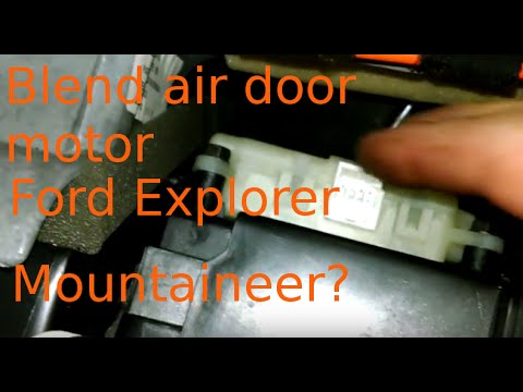 Blend Air Door Actuator Replacement Ford Explorer Install