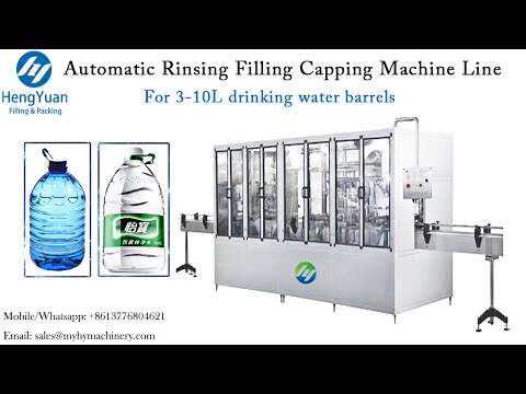 3-10L Drinking Water PET Bottle Dispensing Equipment | Automatic Rinsing Filling Capping Machine