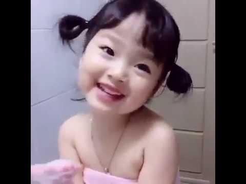 เด็กน้อยเกาหลีสุดน่ารัก อาบน้ำกันไหม อย่ามองนะ นู๋เขินนนนน