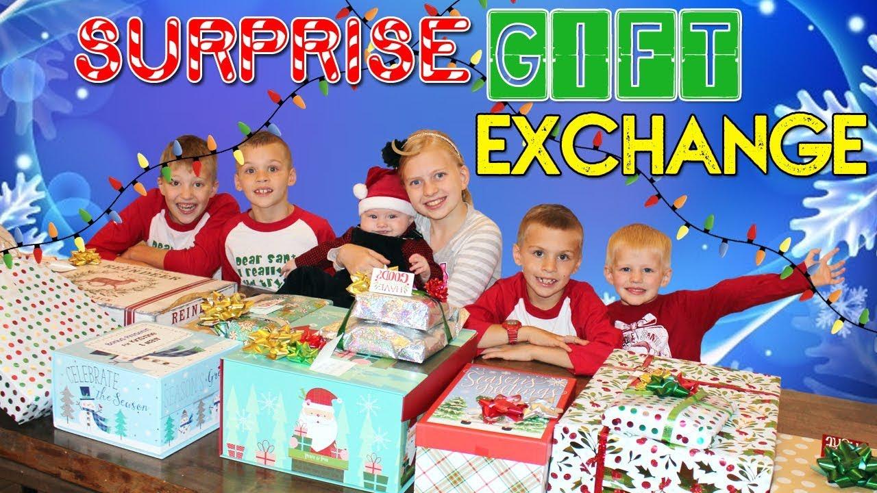 Christmas Comes Early Huge Surprise Gift Exchange Youtube