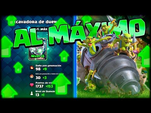 MAXEO LA NUEVA CARTA *EXCAVADORA DE DUENDES* EN UN SOLO DIA en Clash Royale - WithZack