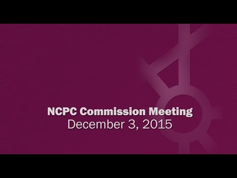 National Capital Planning Commission (USA) Meeting, December, 2015