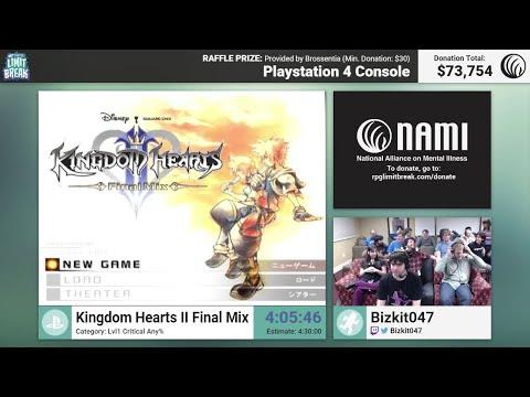 Kingdom Hearts II Final Mix (Lvl 1 Critical) by Bizkit047 & Finale (RPG Limit Break 2016 Part 41)