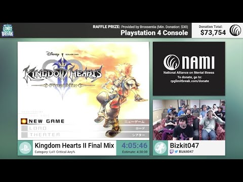Kingdom Hearts II Final Mix (Lvl 1 Critical) By Bizkit047 & Finale (RPG Limit Break 2016 Part 41)