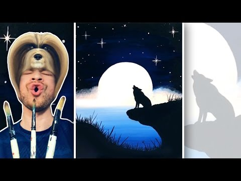 Howling Wolf in the Moonlight - Painting Tutorial