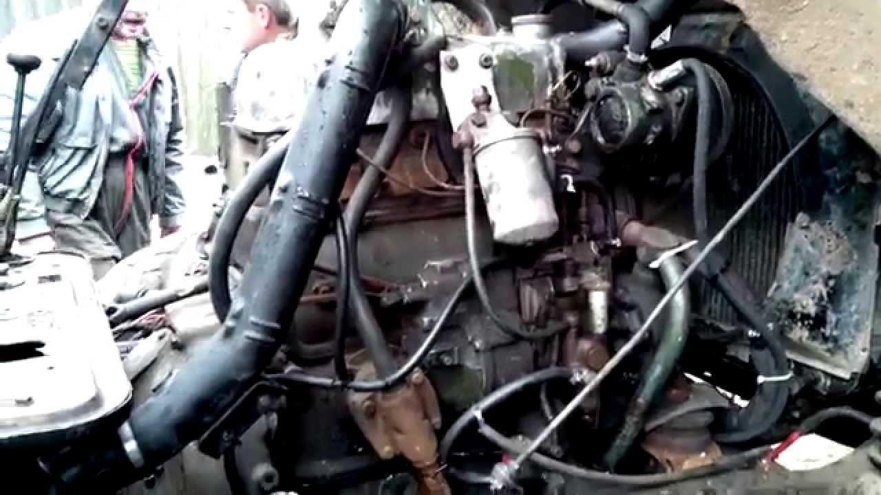 ГАЗ-66 дизельный двигатель OM364 - YouTube