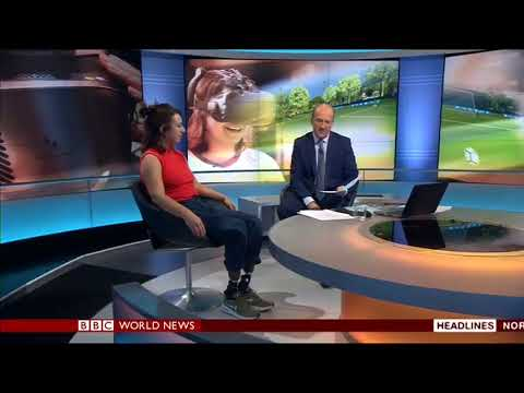 Virtual Reality football on BBC World News