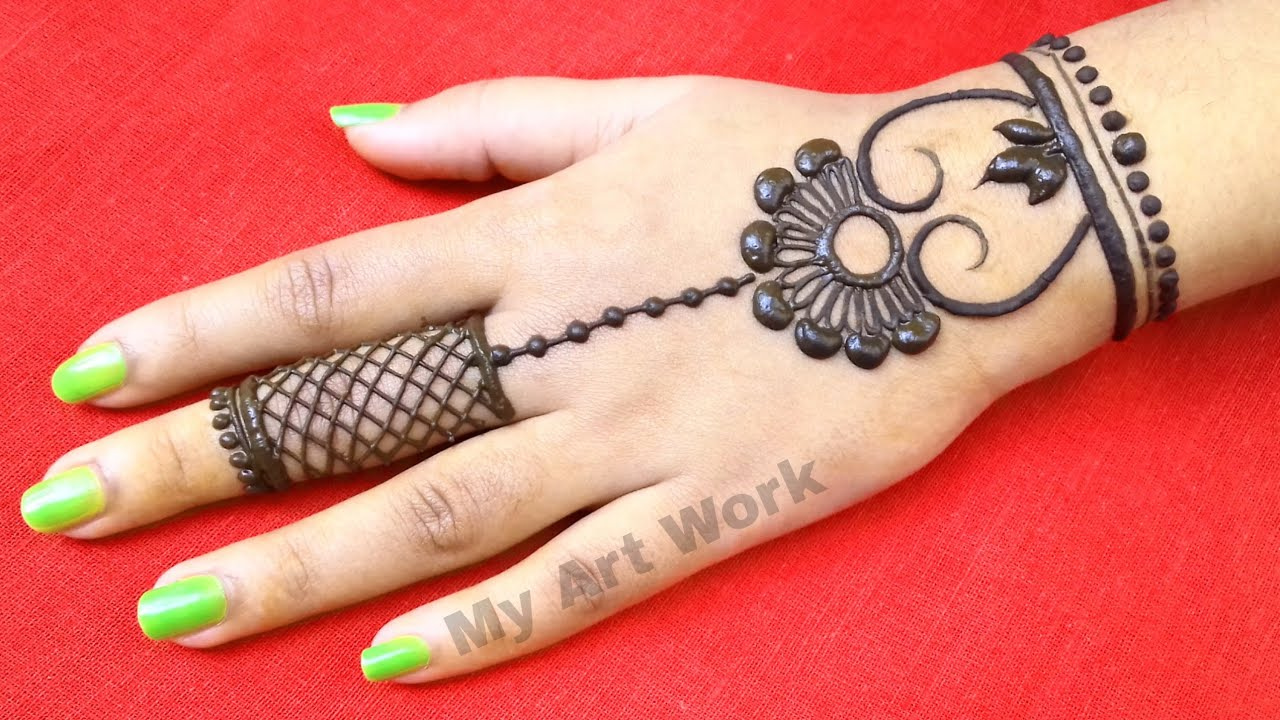 easy jewellery mehndi design for beginners thought of creation