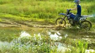 Mudding with Dirt bikes