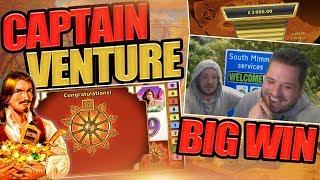CAPTAIN VENTURE MEGA WIN & GAMBLE FAILS!!