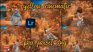 LIGHTROOM TUTORIAL ||   YELLOW CINEMATIC  ||   FREE PRESET DNG