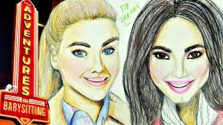 ADVENTURES IN BABYSITTING 2016 Learn How To Draw JENNY and LOLA  Speed Drawing