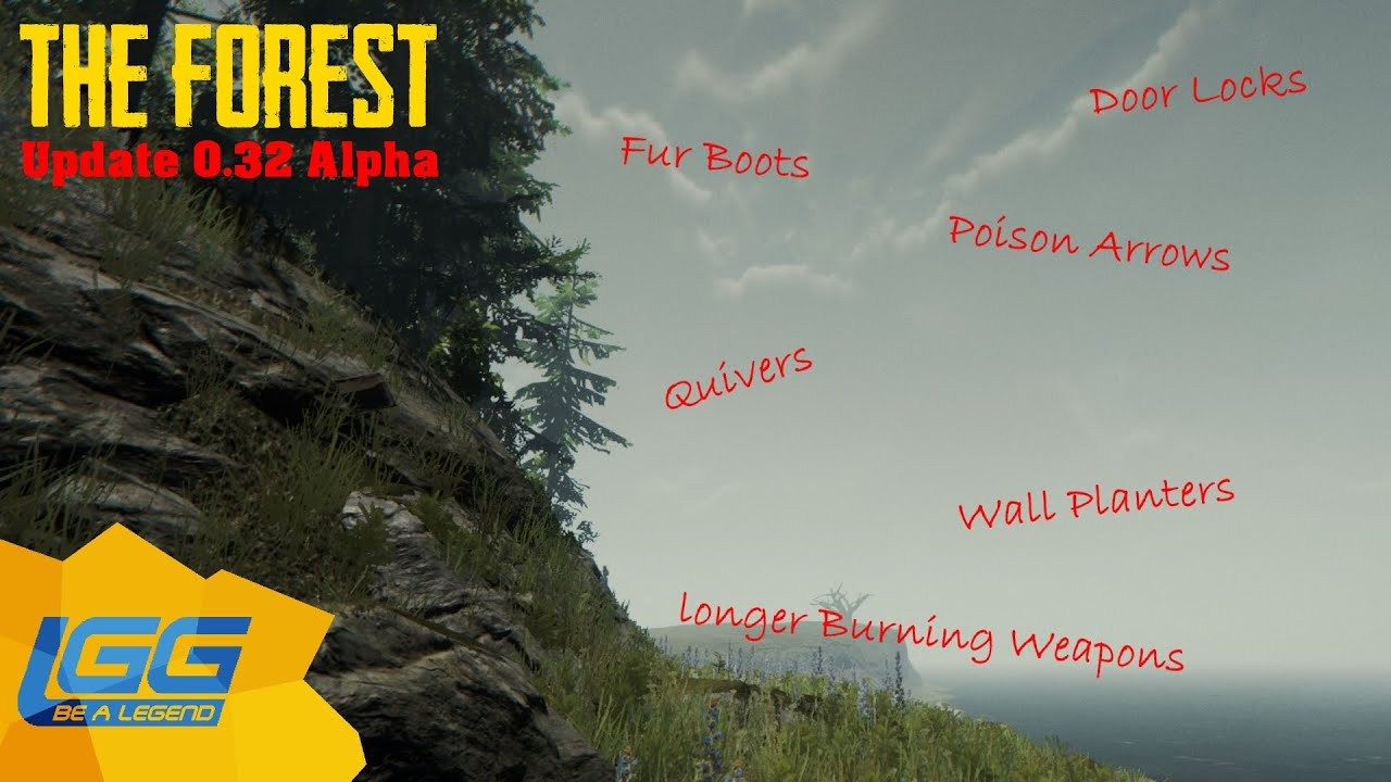 The Forest Update Alpha 0 32 Door Locks Wall Planters Poison Arrowore