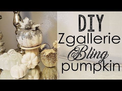 Zgallerie Inspired beaded glitter pumpkin