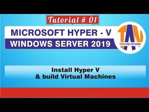 [HYPER V TUTORIAL 01]Microsoft Hyper V Role on Windows Server 2019 and installing Virtual Machine