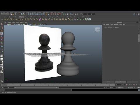 Maya tutorial : How to create a Chess piece in 1 minute