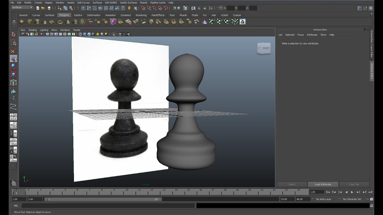 maya tutorial   how to create a chess piece in 1 minute