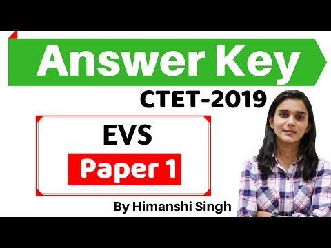 CTET-2019 Answer Key | Paper-01| Environmental Studies/पर्यावरण अध्ययन