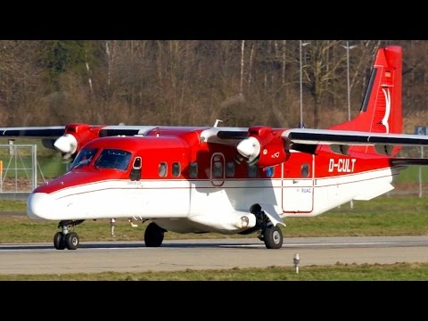 RARE! Dornier 228 Take-Off at Bern ✈ Great Turboprop Sounds!!