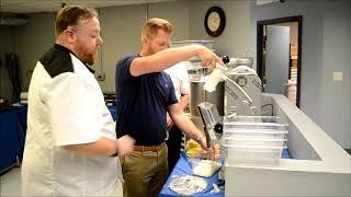 Univex UFP13 Food processor demo