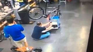 Motorized Cooler Scooter Accident